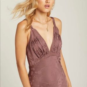 ROSALIE JACQUARD SLIP spell and the gypsy mauve